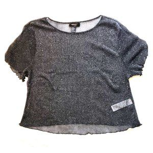 Forever 21+ black crop top- like new!
